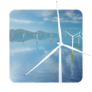 风力发电机动态桌面:Coastal Wind Farm 3D
