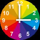彩色模拟时钟小部件