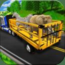 动物园动物运输卡车3D
