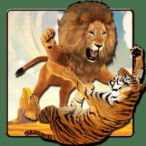 狮子和老虎壁纸