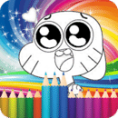 coloring game for gumball-draw