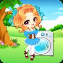 小公主洗衣服