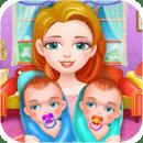 出生双胞胎婴儿游戏
