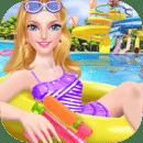 夏日时尚美容沙龙 - 我的水上乐园假期!