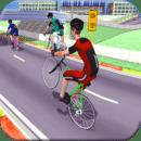 自行车赛冠军特技。