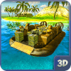 Army Hovercraft Water Cargo Boat – Transport Game