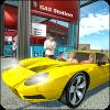 机械和加油站车辆停车场3D