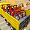 自行车运输卡车司机3d