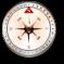 指南针和地图 Compass and map