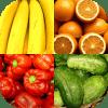 水果和蔬菜、浆果和坚果、香料和香草 : 测验与美味的照片