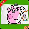 Peppa Pig Coloring book - Coloring Peppa Pig