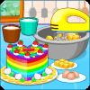 烹制多彩蛋糕