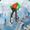 骑自行车用绳子骑自行车