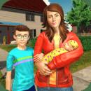 虚拟姐姐快乐妈妈新生婴儿家庭游戏
