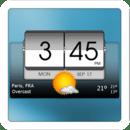 3D翻转时钟&世界天气