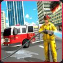美国消防员 - 消防车救援游戏