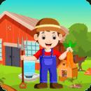 Cartoon Young Farmer Kavi Escape Game-310