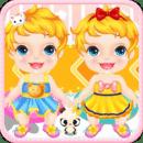双胞胎宝宝洗澡游戏