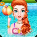 夏季 池 派对- 女孩 游戏