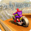 Super Hero Bike Mega Ramp Impossible Stunts Racing