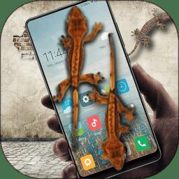 蜥蜴在手机恶作剧