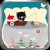 小猫钓鱼-绿豆动态壁纸