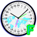 24 H Analog World Clock Free