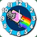 吴年温猫时钟。