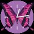 粉红色的蝴蝶时钟