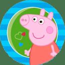 粉红猪小妹和家人。拼图
