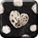 FUR HEART -BLACK-