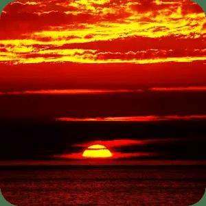 緋紅色的夕陽生活壁紙