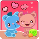 GO SMS Loving Bears Theme