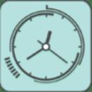 简洁扁平化钟表动态壁纸