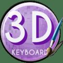 Purple 3D Keyboard