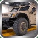 军队车辆停车场