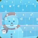 圣诞键盘蓝色的GO