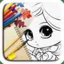 Coloring pages: Princess Paint