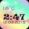 透明 时钟 和天气2.0版本