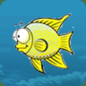 卡通海洋世界:饥饿的鱼