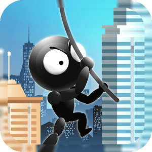 Stickman Avenger Rope Swing