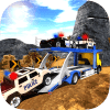 OffRoad警车运输拖车