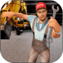 机械:挖掘机和起重机