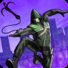Green Rope Ninja Hero in The City