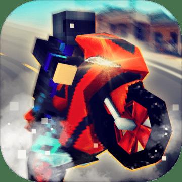 摩托车骑手:高速公路道路