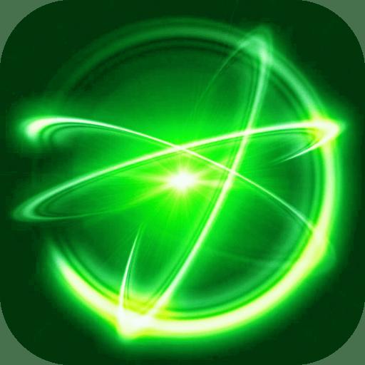 魔幻粒子极光星空