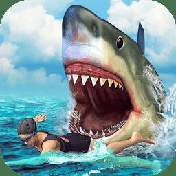 饥饿鲨鱼进化吃人视频