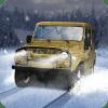 驾驶俄罗斯UAZ越野冬天