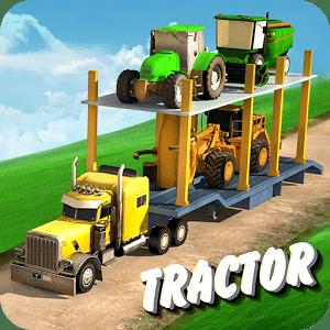拖拉机农民运输车