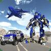 警察 平面 运输 游戏 - 改造 机器人 汽车